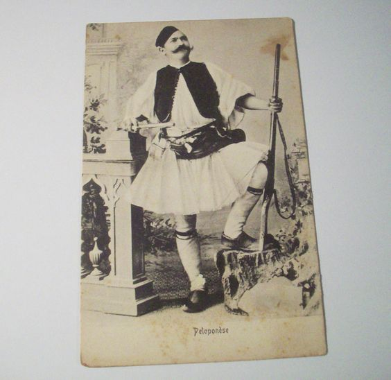 Old Postcard of PELOPONESE Peloponnese Greek Military Chieftain | eBay