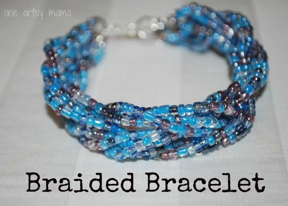One Artsy Mama: Braided Bead Bracelet