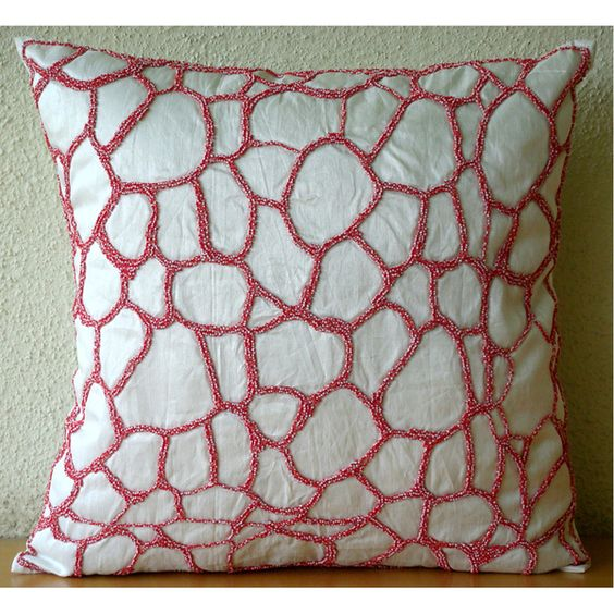 Abstract Coral textured pillow
