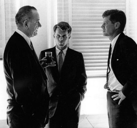 Lyndon Johnson, Robert Kennedy, and John F. Kennedy