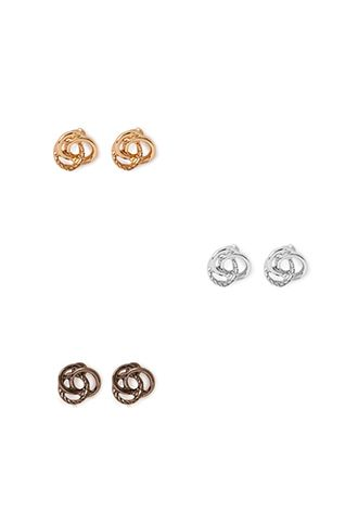 Twisted Knot Stud Set | FOREVER 21 - 1000106548
