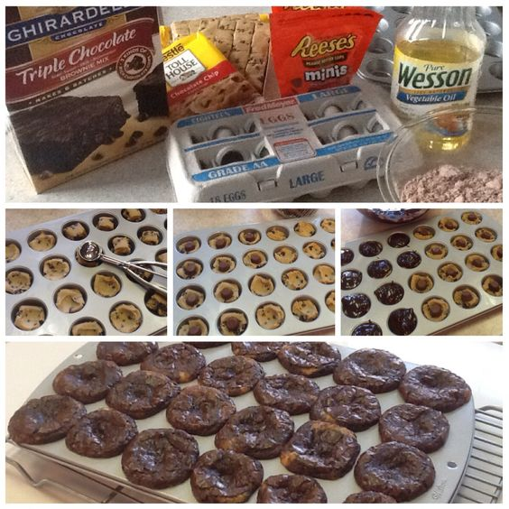 ... Triple Chocolate Brownie mix. Easy to make. Mix brownies according to