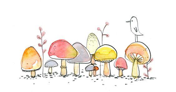 Les champignons poetiques de cecile hudrisier