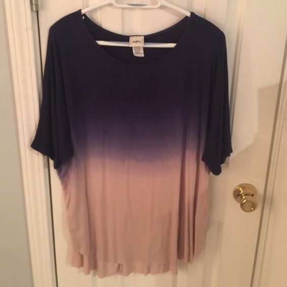 Daytrip ombré shirt size L Daytrip ombré shirt size L NEVER WORN but no tags Daytrip Tops Blouses
