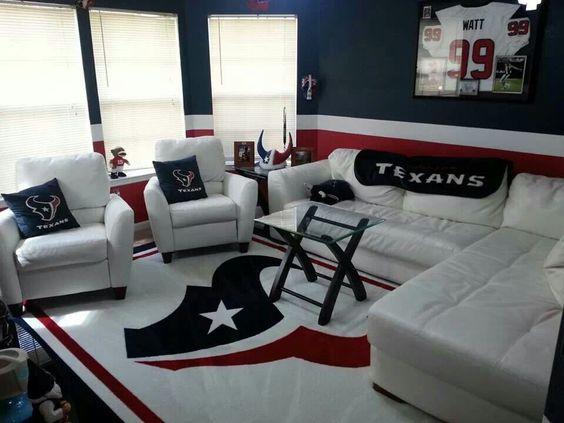 Houston Texans Man Cave Decor : Texans living room for chris mancave garage laundry