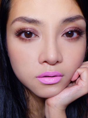 Weekend Face: Chanel Illusion D'Ombre 86 Ebloui and Lime Crime Great Pink Planet Opaque Lipstick