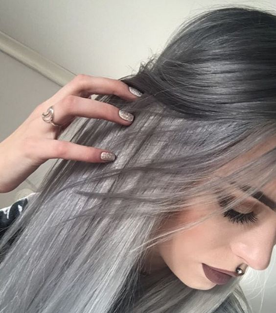 """Old lady hair  #noedit Go to my youtube channel """"Evelina Forsell"""" to see how I dye my hair this color"""