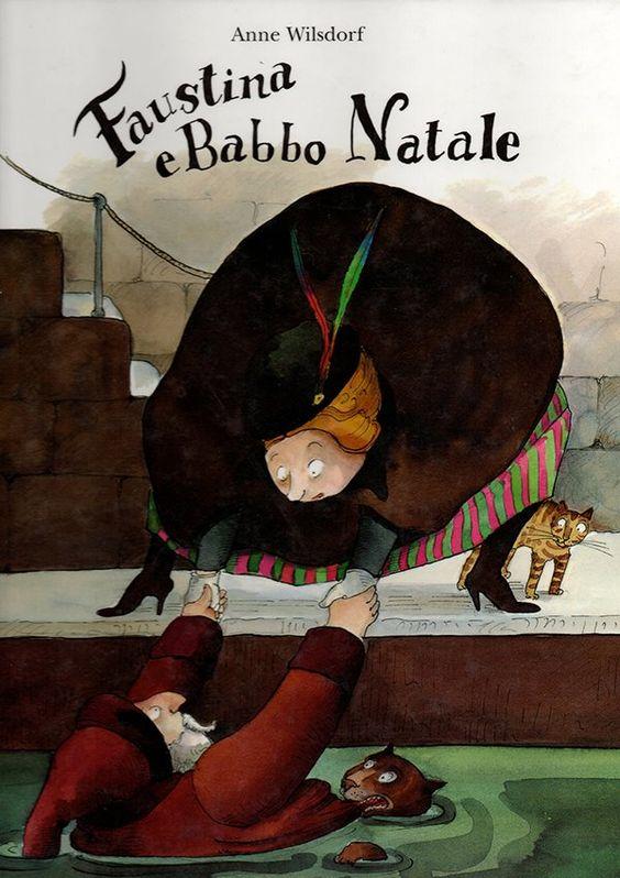 """""""Faustina e Babbo Natale"""" scritta da Anne Wilsdorf ed edito Babalibri. Un albo illustrato divertente e con un Babbo Natale un po' pasticcione. Una storia di Natale diversa dal solito, ma con tutti gli elementi di questa festa: regali, amore e caminetti. Ricca di colpi di scena e con il giusto lieto fine. https://www.facebook.com/NovaraMamma/photos/a.552106518222585.1073741829.321776991255540/725967194169849/?type=3&theater"""
