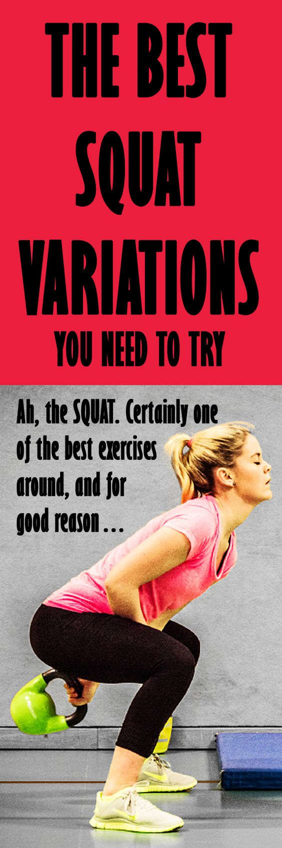 THE BEST SQUAT VARIATIONS you need to try: The squat is a great compound exercise to work your entire lower body and even your core and upper body. If you want to Add some extra fun into your full body workouts then try these awesome variations…  #squats #squatworkout #gluteworkout #squatvariation #buttworkout