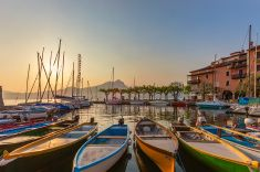 Torri del Benaco, Lake Garda stock photo