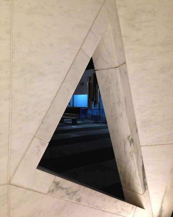 #slavery #memorial At the #UN #NYC #nycnightlife #symmetry #lightvsdark #triangle by springhead9