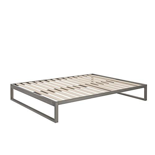 Minimo Industrial Gunmetal 12 Inch Metal Bed Frame Mattress
