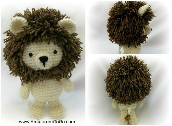Amigurumi Mane : Lion, Amigurumi and Crochet lion on Pinterest
