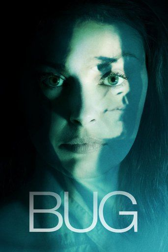 Bug (2006)   http://www.getgrandmovies.top/movies/29245-bug   A lonely waitress with a tragic past, Agnes rooms in a run-down motel, living in fear of her abusive, recently paroled ex-husband. But when Agnes begins a tentative romance with Peter, an eccentric, nervous drifter, she starts to feel hopeful again - until the first bugs arrive...