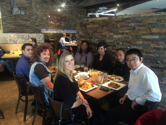 Hamu Chigwada, Yangoubo Liu, Jared Dolan, Veronica Carbajal, Taurean Mucthison, and Christine Nappo with Philadelphia Insurance