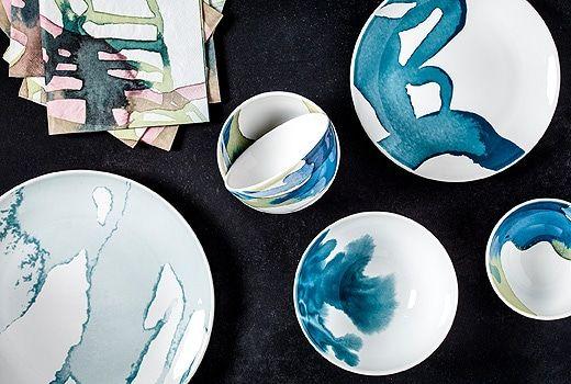 Us Furniture And Home Furnishings Ikea Dinnerware Dinnerware Set Modern Blue Dinnerware Sets
