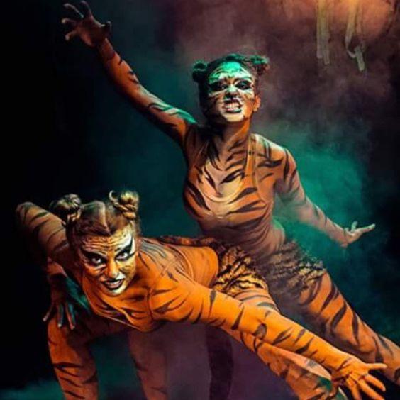#teatravatar #body #bodypainting #bodypaintingart #artofbodypainting #tiger #jungle #dancers #show #tygrysy #makeupart #makeup