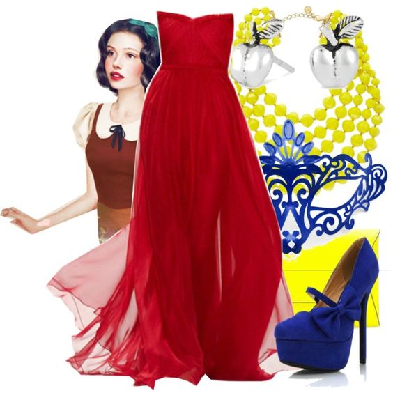 """""""Masked Ball - Snow White"""" by annabelle-95 on Polyvore"""