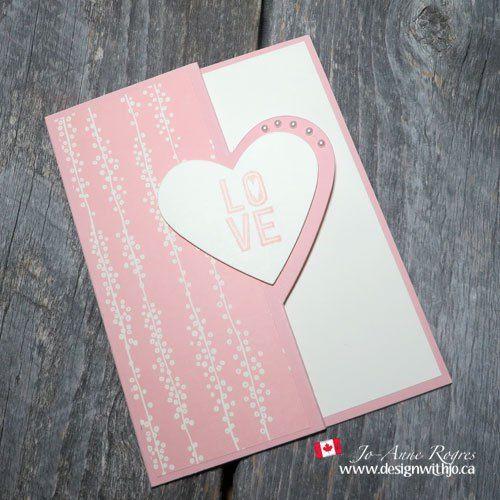 Make A Pretty Reverse Fold Love You Card Video Diy Valentines Cards Valentine Cards Handmade Valentines Day Cards Diy