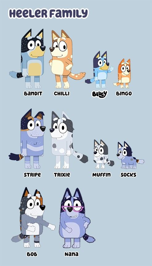 Muffin and Socks cookie cutter and stamper Bluey TV Show ABC Kids