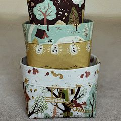 Tutorial: Fabric Bins {Birch Fabrics + Pellon®}