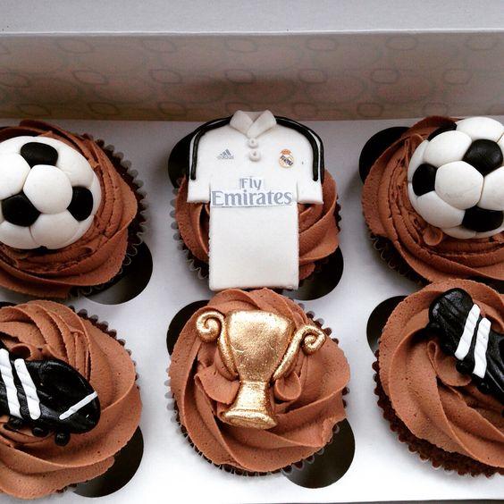 Cupcakes Del Real Madrid Productos Pinterest Cupcake