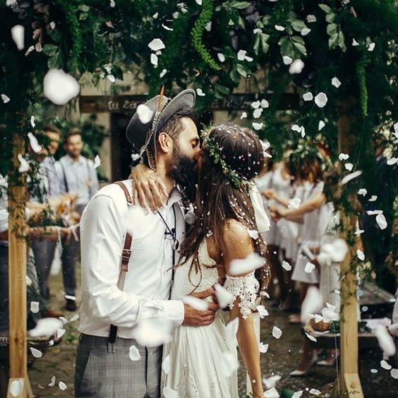 Whimsical bohemian wedding: