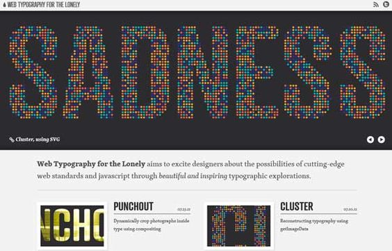 Really like the pixelated 'sadness' word (not the word itself, just the design!)