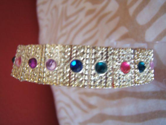 Multi-colored Gemstone Bracelet by BJDevine on Etsy