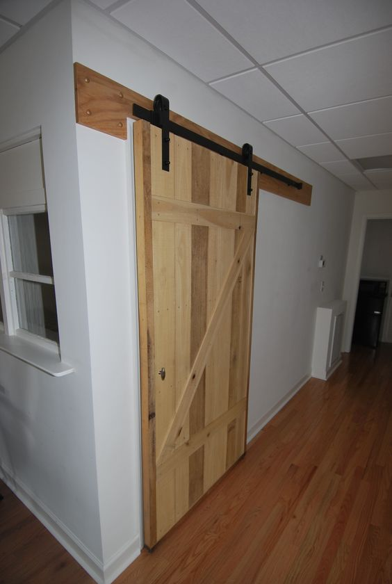 Barn doors are great in the office too.