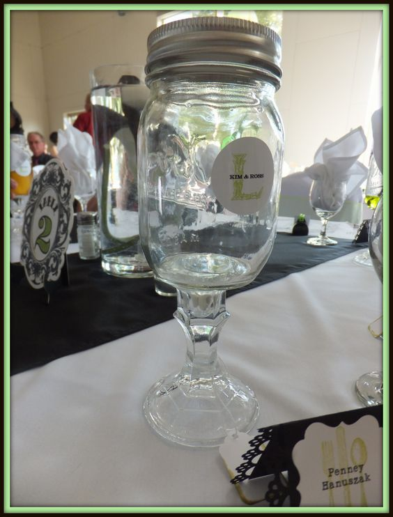 My wedding glassware and favours made by @Andy