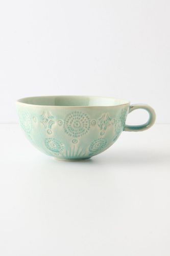 Taza de té texturada.