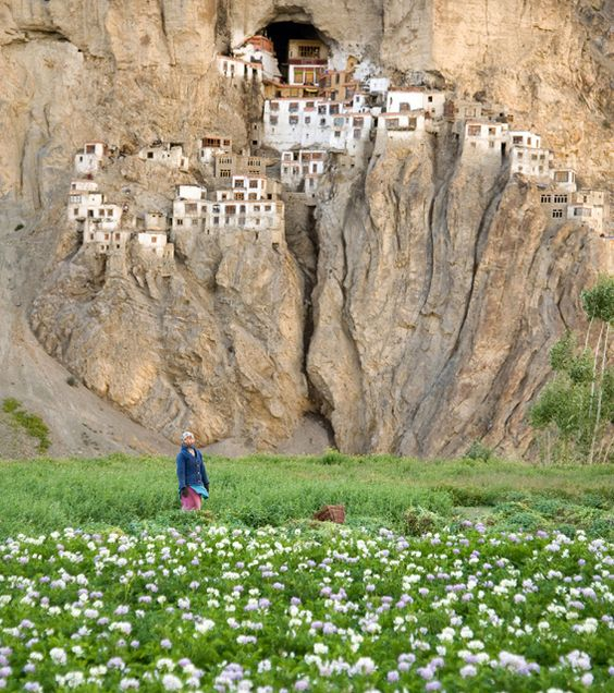 Phuktal Monastery, India...where exactly is this?
