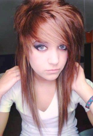 Marvelous Emo Emo Hairstyles And Hairstyles For Girls On Pinterest Short Hairstyles Gunalazisus