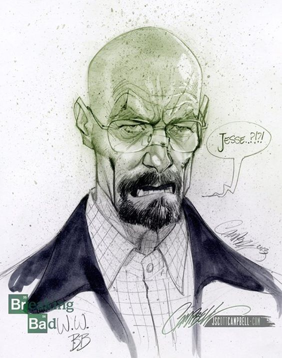 Walter White - by J. Scott Campbell