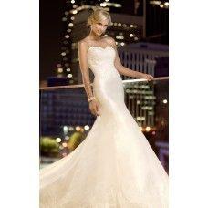 Vestido de Noiva Sereia em Cetim e Renda
