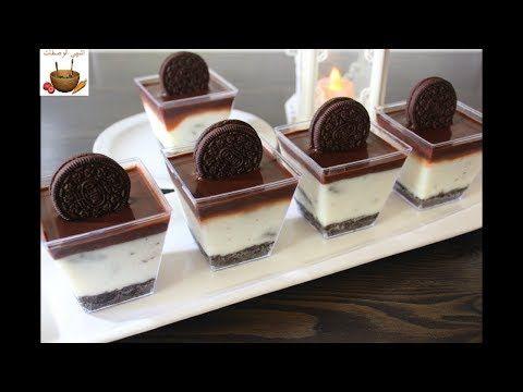 حلى كاسات الاوريو تحلية رمضانية باردة في 10 دقائق وبمكونات بسيطة متوفرة في كل منزل Youtube Desserts Food Dessert Recipes