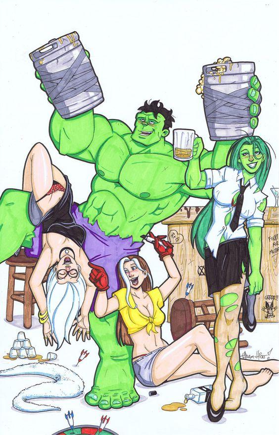 AWESOME. Hulk party by ~Gigatoast on deviantART