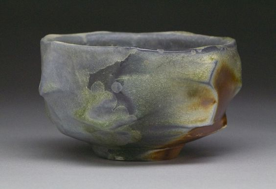 "2015 teabowls - KC Clay Guild Teabowl National - Chuck McGee Tea Bowl Stoneware clay 2.5"" x 4"" x 4"""