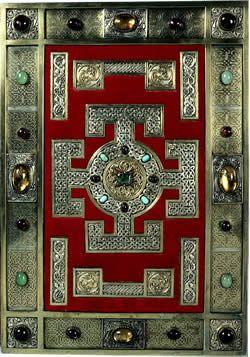 Lindisfarne Gospels (British Library site) - online images from the gospels.