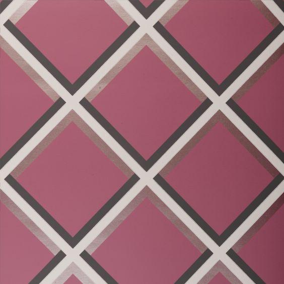 Pergola Grid Raspberry Wallpaper - W0018/05