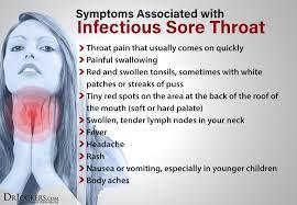 Symptoms Of Sore Thorats Sore Throat Soreness Gargle For Sore Throat