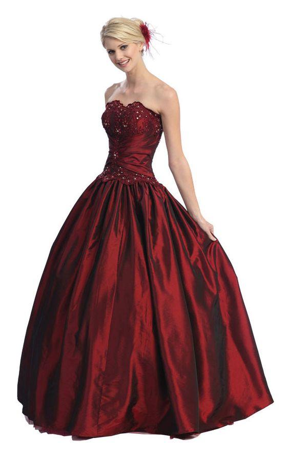Dark Red Ball Gown | ball gowns | Pinterest | Темный, Рукав и Куртки