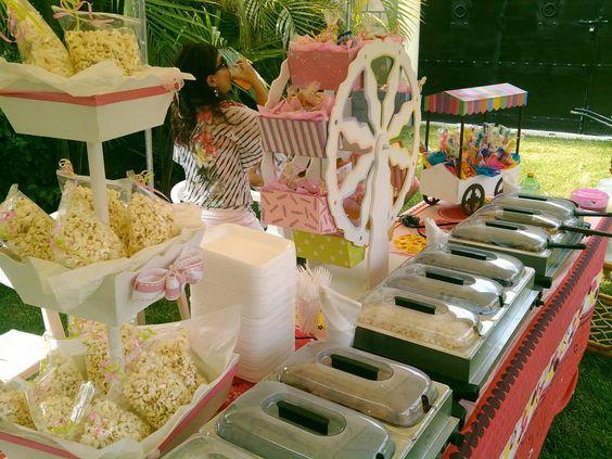 Buffet mesa de dulces carrusel carrito montajes - Mesas para buffet ...