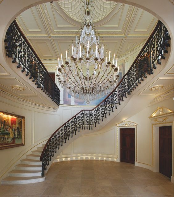 Luxury staircase staircases and staircase design on pinterest for Luxury staircase design