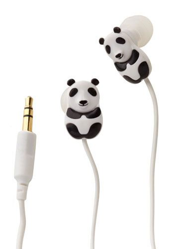 Panda Ear Bud-dies. These cute little guys will be your best friends as you study for exams in the library!  #modcloth