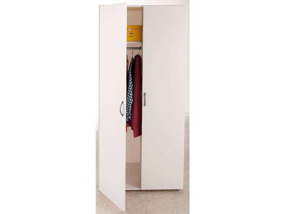 Armoire 2 portes ZIPPIE 2 coloris blanc - pas cher ? C'est sur Conforama.fr - large choix, prix discount et des offres exclusives Armoire sur Conforama.fr