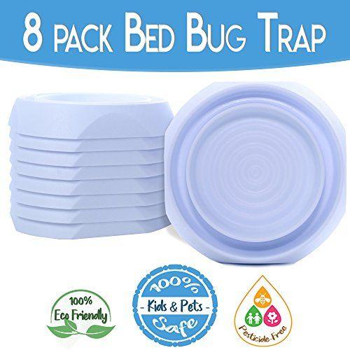 Bed Bug Interceptors Bed Bug Traps 8 Pack White Bed Bug Cups Design E Bed Bug Trap Bed Bug Interceptor Bug Trap