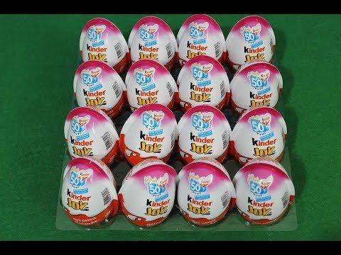 16 بيضة كندر جوي مختلفة بيضة المفاجآت العاب بنات العاب عبير كندر Kinde Kinder Eggs