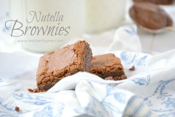 Nutella Brownies | Mother Thyme